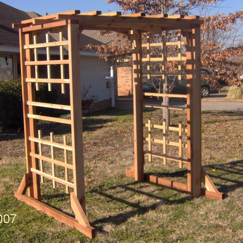 Huge Cedar Mission Style Garden Arbor - Buy Huge Cedar Mission Style Garden Arbor - Purchase Huge Cedar Mission Style Garden Arbor (Threeman Products, Home & Garden,Categories,Patio Lawn & Garden,Plants & Planting,Plant Containers & Accessories)