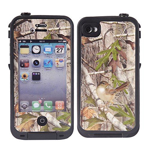Wisdompro Colorful Decorative Vinyl Decal Skin Stickers for Lifeproof iPhone 4 4s Case Tree Camo