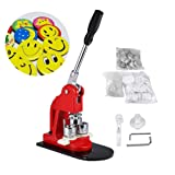 IRONWALLS Button Maker Machine 1'' Inch 25mm Button Badge Maker Punch Press Machine with 1000 Pcs Button Parts Circle Cutter (Tamaño: 1'')