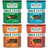 Rhythm Superfoods Kale Chips, Variety Pack, 2 Ounce, 4 Count