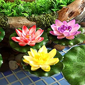 Special simulation trumpet lotus pond for Artificial plants for outdoor ponds