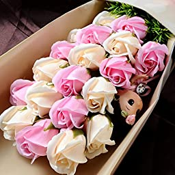 A4F Romantic Scent Long Lasting Rose with Gift Box&Cards-Pink