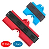 2 Pack Master Outline Contour Gauge Duplicator 5 Inch and 10 Inch Irregular Profile Shape Copy Marking Tool for Flooring Carpentry Tile Woodworking Scribe Angled Corners Contoured (Tamaño: 5 INCH + 10 INCH)