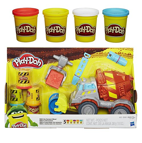 Play-Doh Max the Cement Mixer Toy Truck and Extra Play-Doh 4-Pack of Colors 20oz Bundle of 2 Items (Play Doh Color Mixer compare prices)