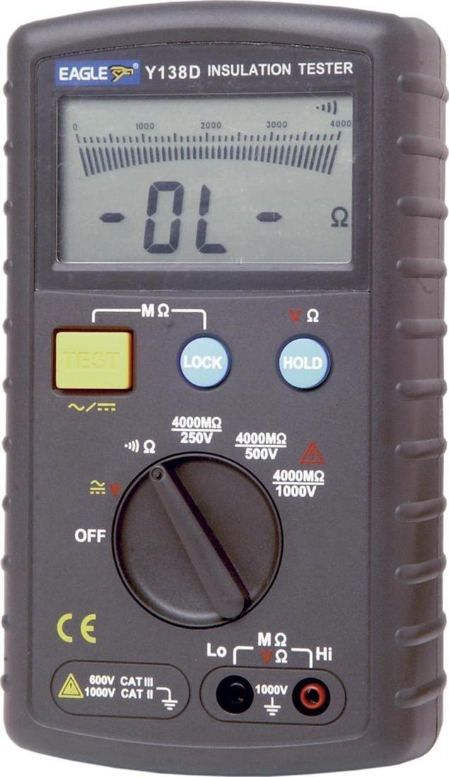 Schwarz Professionelle Auto Ranging Insulation Tester Y138D  BaumarktKundenberichte und weitere Informationen