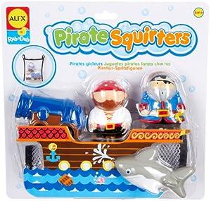 (直降)Alex Toys Rub a Dub Pirate Squirters亚历克斯海盗主题喷水洗澡玩具5件套$9.46