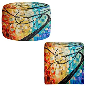 .com - Ottoman Foot Stool Pouf Round or Square from DiaNoche Designs ...
