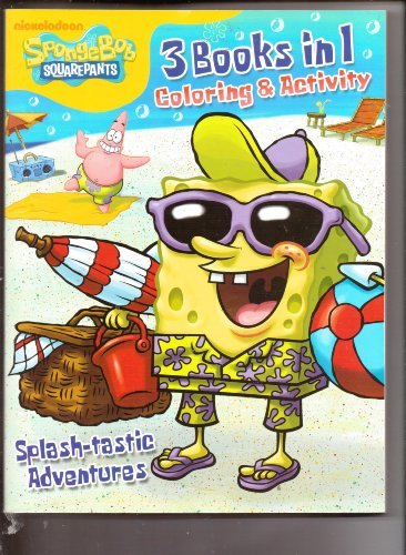 Spongebob Squarepants Coloring and Activity Book 3 in 1 ~ Splash-tastic Adventures - 1