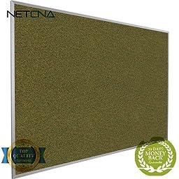 300AG Splash-Cork Tackboard (Green) - Free NETCNA Touch Screen Pen - By NETCNA