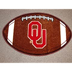 Buy NCAA Football Novelty Rug NCAA Team: Oklahoma - OU by Championship Home Accessories