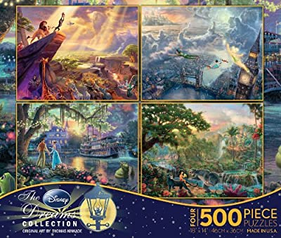 Ceaco 4-in-1 Multi-Pack Thomas Kinkade Disney Dreams Collection Jigsaw Puzzle by Ceaco