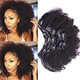 10inchClip In Human Hair Extensions Brazilian Virgin Hair Afro Kinky Curly Clip in Hair Extensions Natural 4B 4C Kinky Curly Clip Ins 7pcs/lot,120gram/set