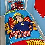 Sam El Bombero - Fireman Sam - Niños Ropa de Cama Juego de Cama Reversible Brave Core