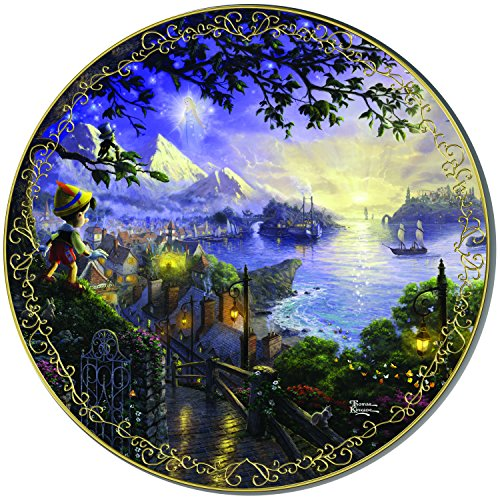 Thomas Kinkade Pinocchio Wishes Upon A Star Plate