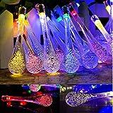 Beleuchtung - Goodia 4,8 Meter 20er LED Crystal Blase Teardrop Covers Mischfarben Solar Garten Lichterkette Innen- und Au�enbereich [Energieklasse A]