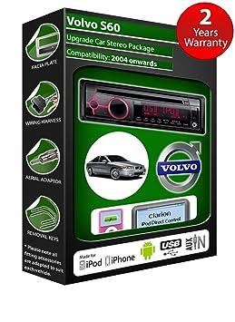 Volvo S60 de lecteur CD et stéréo de voiture radio Clarion jeu USB pour iPod/iPhone/Android