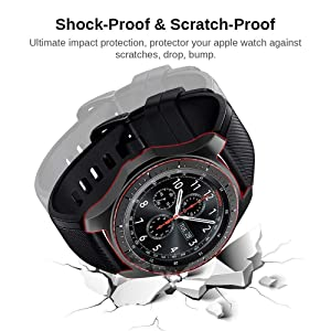 Miimall [2 Pack] Compatible Samsung Galaxy Watch 46mm/ Gear S3 Case Cover, Soft TPU Plated Protective Protector Bumper Cover Case for Samsung Gear S3 Frontier/Classic Black and Gray (Color: Samsung Gear S3 / Glaxy Watch 46mm Case Black and Gray, Tamaño: One Size)