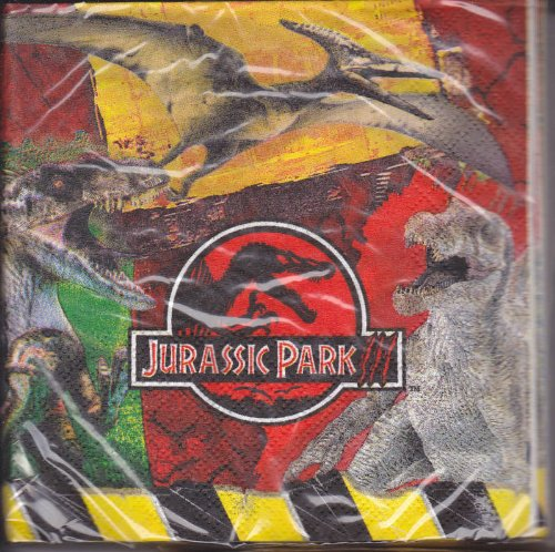 Jurassic Park 3 Package of 16 Napkins 12 7/8 X 12 3/4 - 1