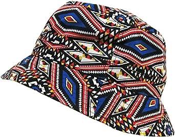 KBETHOS M-012 Navajo Bucket Hat Cap - BLACK