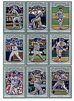 2013 New York Mets Topps Gypsy Queen Baseball Complete Mint 9 Basic Card Team Set with David Wright, Dwight Gooden Plus