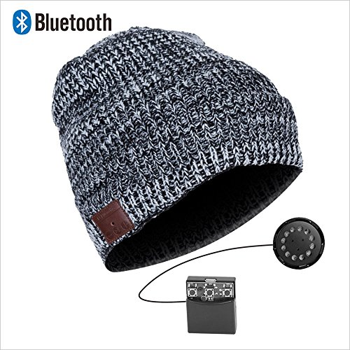 wireless bluetooth headphone beanie hat combined with removable bluetooth headset and microphone. Black Bedroom Furniture Sets. Home Design Ideas