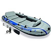 Intex Excursion 5 Inflatable Rafting and Fishing Boat Set with 2 Oars