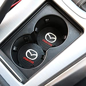 MX6,R3 A8 MX5,RX7 3,5,6 5559023272 etc M2 M3,M5 Yuanxi Electronics 2 Pcs 2.75 inch Car Interior Accessories Anti Slip Cup Mat for for Mazda 2 CX9 CX-5,CX-7,CX-8,M6 RX8