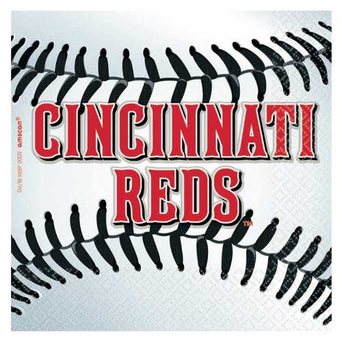 MLB Cincinnati Reds Small Napkins (36ct) - 1