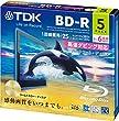 TDK �^��p�u���[���C�f�B�X�N BD-R 25GB 1-6�{�� �S�[���h�f�B�X�N 5���p�b�N 5mm�X�����P�[�X BRV25C5A