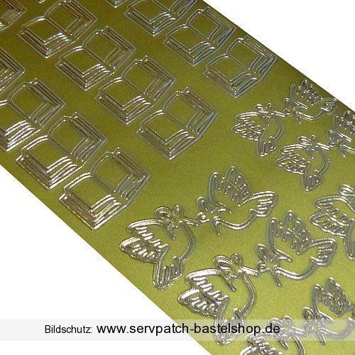 Bibel und Tauben (15-25410) -gold- Ziersticker