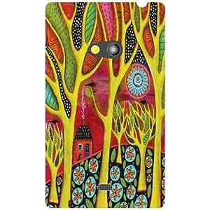 Nokia Lumia 625 Back Cover - (Printland)