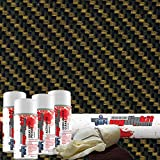 Hydrographics MyDipKit - CF-11-72 - Water Transfer Printing - CLEAR & Gold Carbon Fiber (Entry Level) (Color: Carbon Fiber, Tamaño: Entry Level)