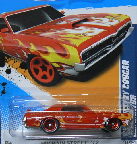2012 Hot Wheels '69 Mercury Cougar Eliminator Red #168/247 - 1