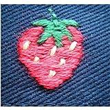 イチゴ刺繍入り 子供用 ハンカチ、ティッシュケース&付けポケット3点セット