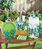Butterfly Table Decor, Paper Towel Holder, Flatware Caddy & Paper Plate Holder Set, Metal