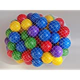 "My Balls by CMS Brand Pack of 100 pcs 2.5"" Crush Proof Plastic Balls in 5 Bright Colors - w/ Genuine My Balls Logo, Phthalate Free BPA Free"