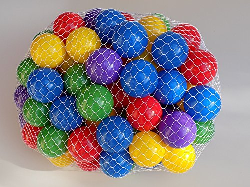 My Balls by CMS Pack of 100 pcs 2.5″ True To Size Crush Proof Plastic Balls in 5 Bright Colors – w/ Genuine My Balls Logo, Phthalate Free BPA Free