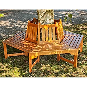 Treebank berangan wood tree round bench bench bench garden for Benches that go around trees