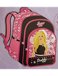 Simba 15 Ltrs Pink And Black Children's Backpack (BTS-2096)