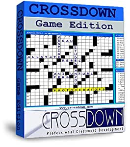 Crossdown Crossword Puzzle Game Software With Crossdown Triple Pack