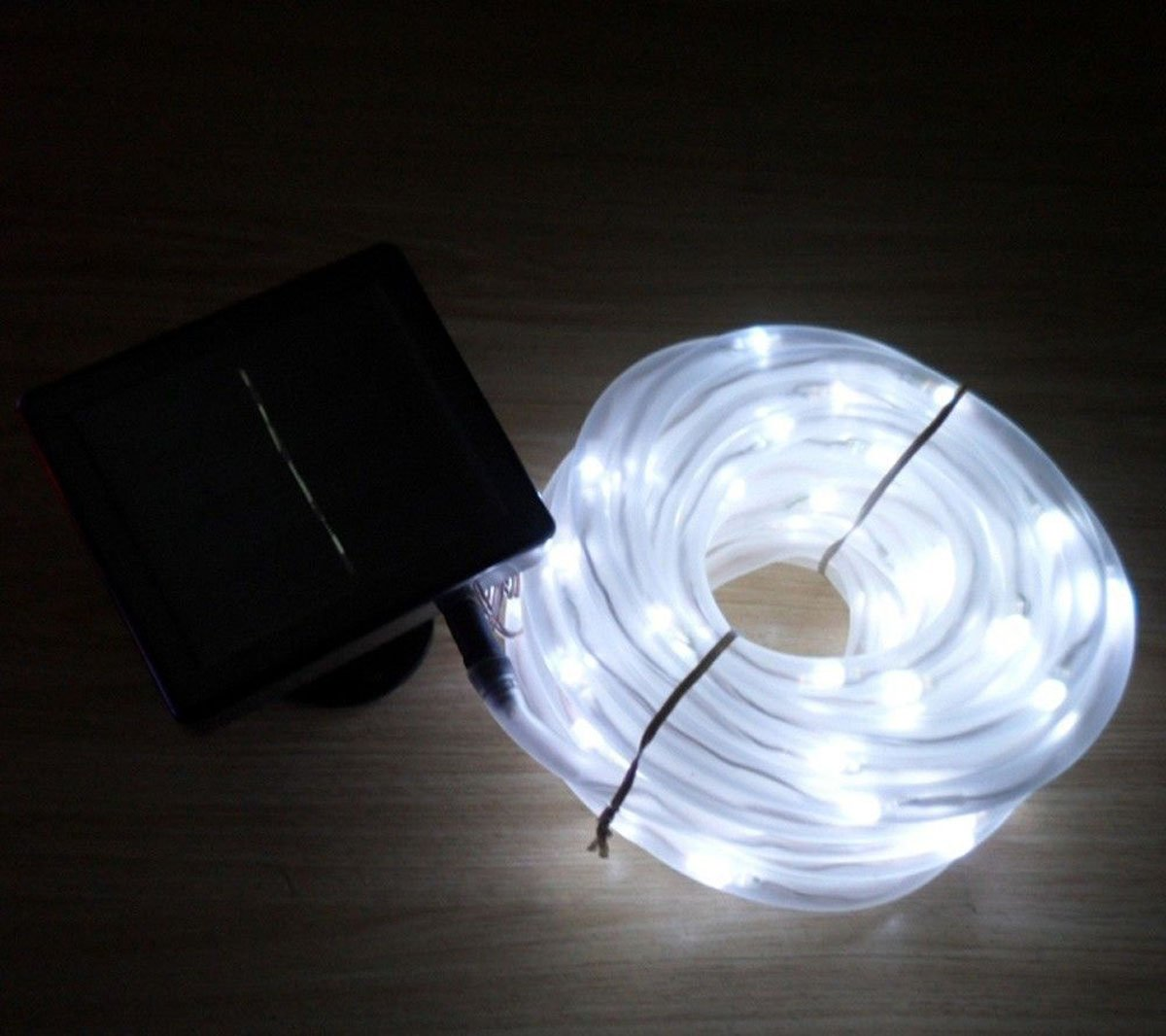 Led Tube String Lights : 10m 100leds cool white Solar Led Rope light Fairy string tube Waterproof USA eBay