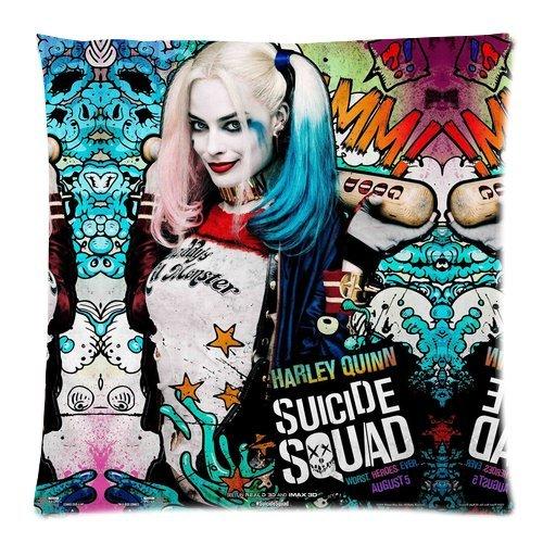 Trendsetter Harley Quinn Suicide Squad Poster Custom Pillowcase Throw Pillow Cover cuscino Custodia 18x 18(due lati)