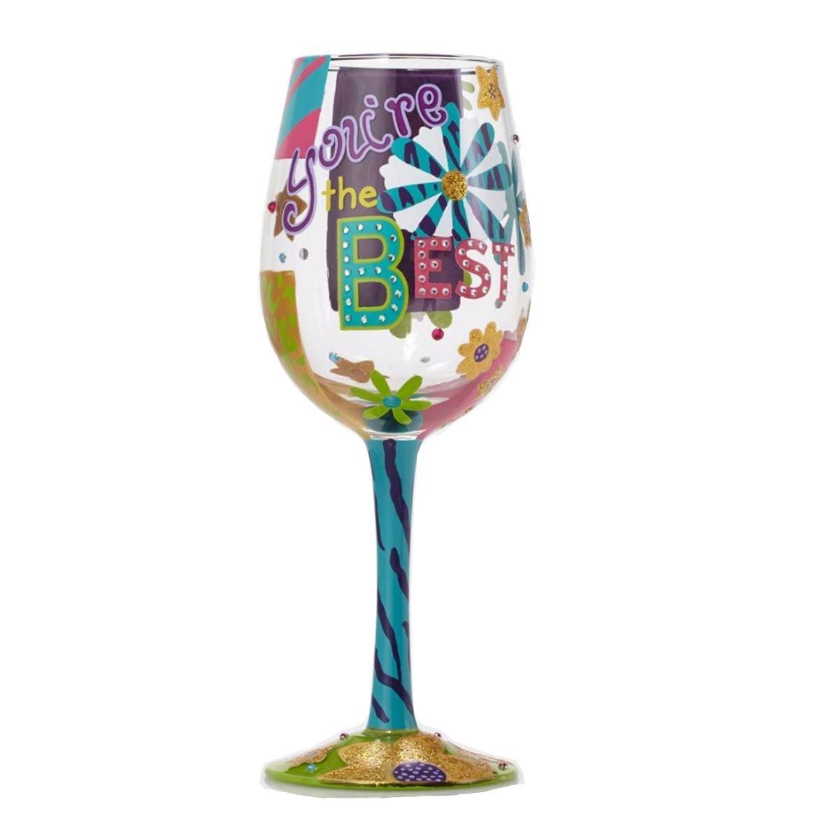 Painted Artisan Wine Glass