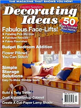 Country Sampler 39 S Decorating Ideas April 1997 Paneling Pick Me Ups