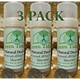 Green Tidings All Natural Deodorant *Extra Strength, All Day Protection* Unscented 2.7oz (3 PACK- 15% OFF)