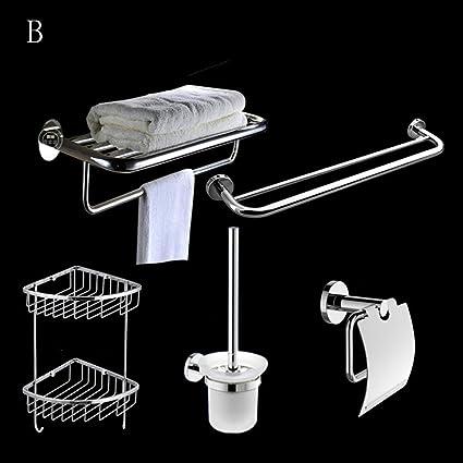 XIAOLIN-- Rack Set bagno tovagliolo bagno Portasciugamani Bagno Hardware Rack Set (totale 5) --Scaffali da bagno ( dimensioni : B )