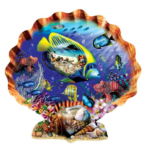 618DKcLOqcL Cheap  Souvenirs of the Sea Shaped Jigsaw Puzzle by Lori Schory 1000pc
