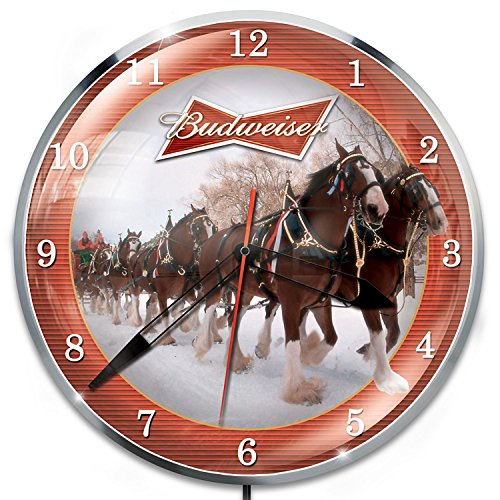 Budweiser Clydesdale Illuminated Wall Clock by The Bradford Exchange