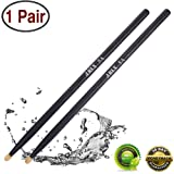 Drum sticks 5a Wood Tip drumsticks Classic Red drum stick (1 pair Black -5A drumstick) (Color: 1 pair Black -5A drumstick, Tamaño: 5 A)
