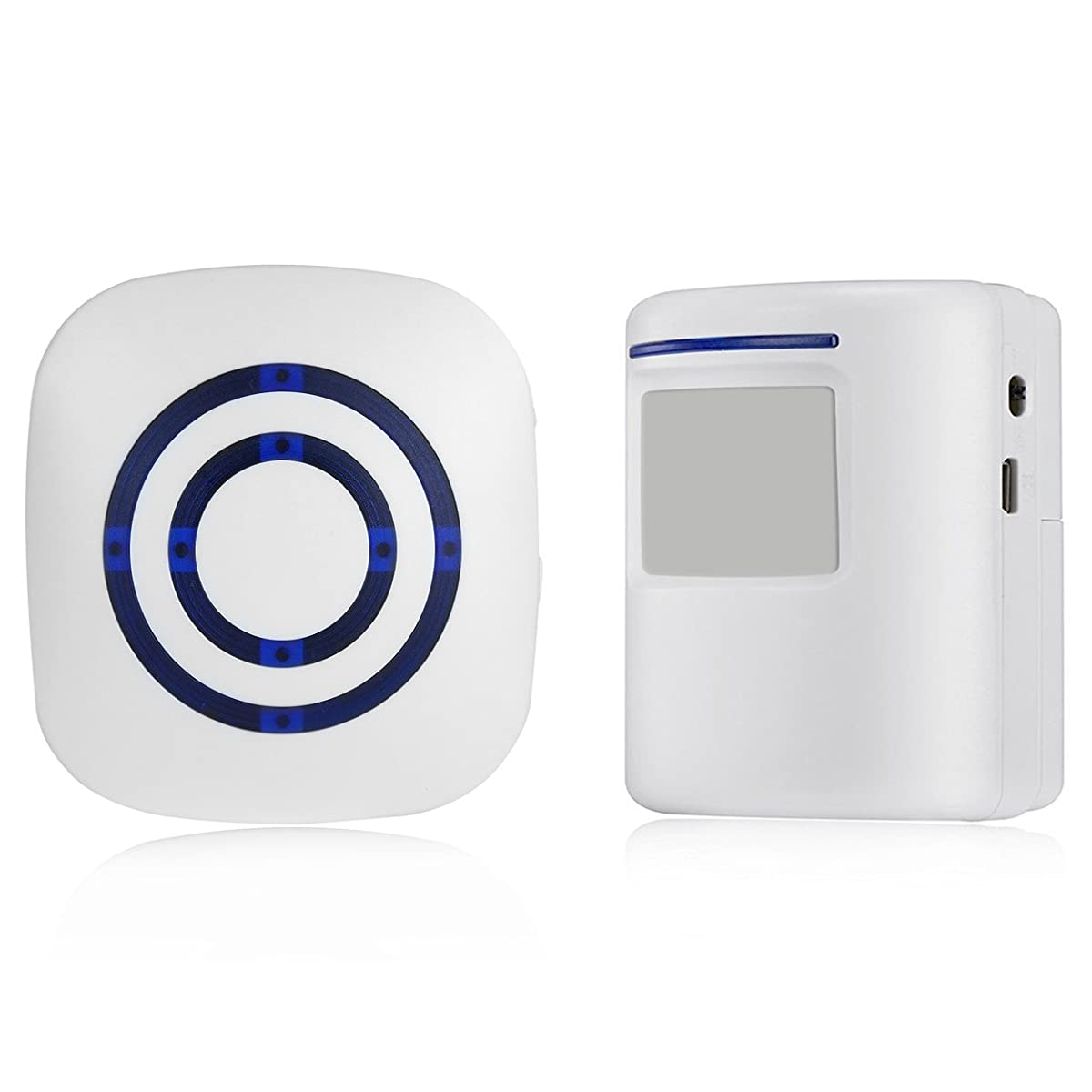 Wireless Driveway Alert Doorbell,Home Security Alarm, Smart Entry Alert  Welcome Visitor Door Chime White Infrared Motion Sensor Portable ...